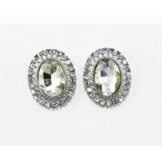 612509-101 Crystal Earring in Silver