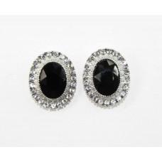 612509-102  Black Earring in Silver