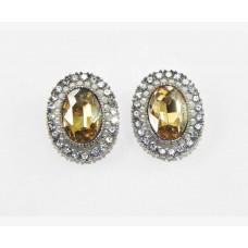 612509-108  Topaz Crystal Earring in Silver