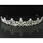 616054-101 Crystal Clear Silver Tiara