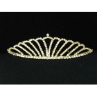 696050-201 Clear in Gold Tiara comb