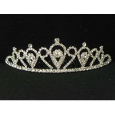 696051-101 Clear in Silver Tiara comb