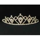 696051-201 Clear in Gold  Tiara comb
