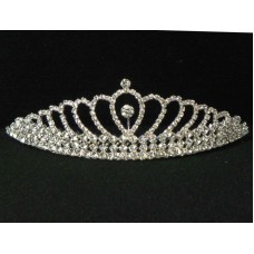 696052-101 Clear in Sliver Tiara comb