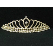 696052-201 Clear in Gold Tiara comb