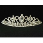 696053-101 Clear in Silver Tiara comb