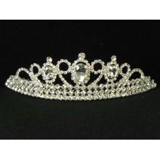 696053-101 Clear in Silver Tiara comb