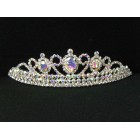 696053-101AB  Clear in Silver Tiara comb