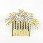 716018 Clear in Gold Hair Comb