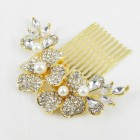 716019 Gold Hair Comb