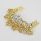 716022 Clear in Gold Hair Comb
