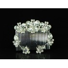 716314 Crystal Clear Silver Hair Comb