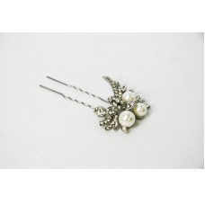 716319 Crystal with Pearl Hair Pin
