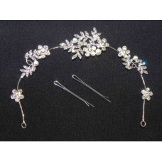 716328-101 Crystal Hair Piece with Pearl