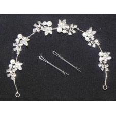 716329-101 Crystal Hair Piece with Pearl