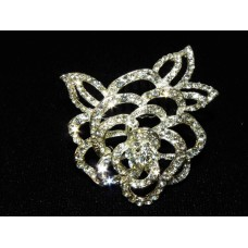 716335-101 Crystal Silver Flower Shape Hair comb