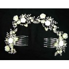 716339-101 Crystal Hair Piece with Pearl