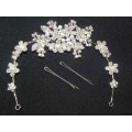 716341-101  Crystal Hair Piece with Pearl