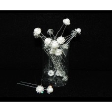 716349-101 Hair Pin with Pearl  (20 Pces)