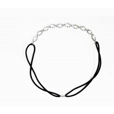 796038 Silver Head Band & Pearls