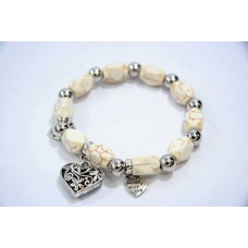 893065 Bead  Bracelet in White