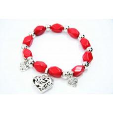 893065 Bead Bracelet in Red