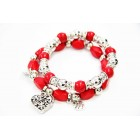 893066-2-107  Turquoise Bracelet in Red