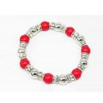 893097-1 Red Bead Crystal Bracelet