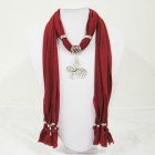 992044 red scarf