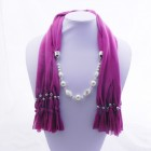 992051 Fushia Jewelery Scarf