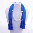 992051 Blue Jewelery Scarf