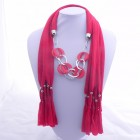 992053 Red Jewelery Scarf