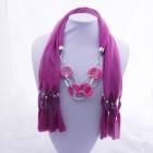 992053 Fushia Jewelery Scarf