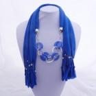 992053 Blue Jewelery Scarf
