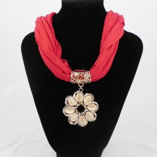 992056  Red Necklace Scarf