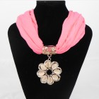 992056  Fushia Necklace Scarf