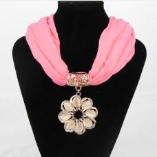 992056  Fushia Necklace Scarf