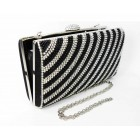 995065-102  Crystal Evening Purse with Pearl  in Black