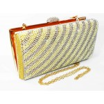 995065-201  Crystal Evening Purse with Pearl in Gold