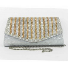 995066-108 Topaz Evening Purse in Silver