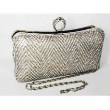 995067-101 Crystal Fashion Evening Purse in Silver
