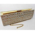 995069 -208 Topaz Crystal Evening Purse in Gold