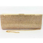 995070-201 Topaz Crystal Evening Purse in Gold