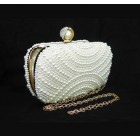 995077-101 White Pearl Quality  Evening Purse