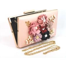 995078-209 Fashion Multi Flower Purse in Pink