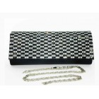 995081-102 Black Purse in Silver