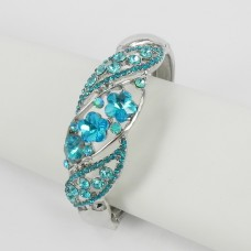 514162 Aqua Crystal Bangle