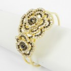 594060 Crystal Bangle in  Gold