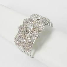 594065 Clear Crystal in Silver Bangle