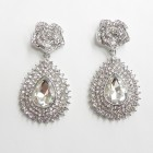 512397-101 Clear Crystal Earring in Silver